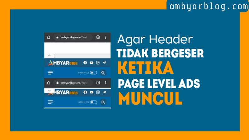 Header-bergeser-saat-Page-Level-Ads-Muncul