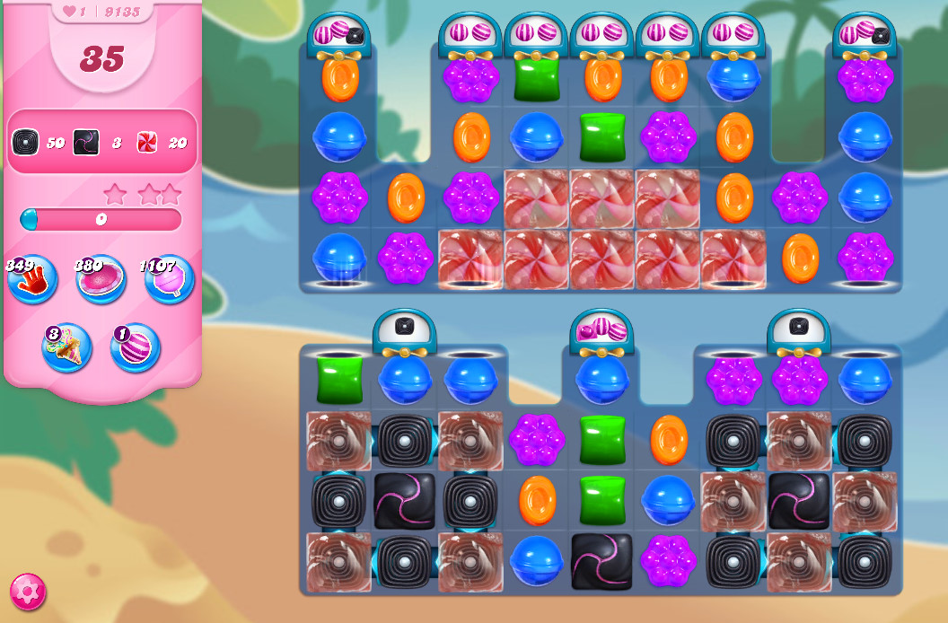 Candy Crush Saga level 9135