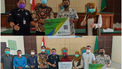 Salut.. PWI Pelalawan Terima CSR Notaris Ragil Ibnu Hajar Berupa BPJSTK