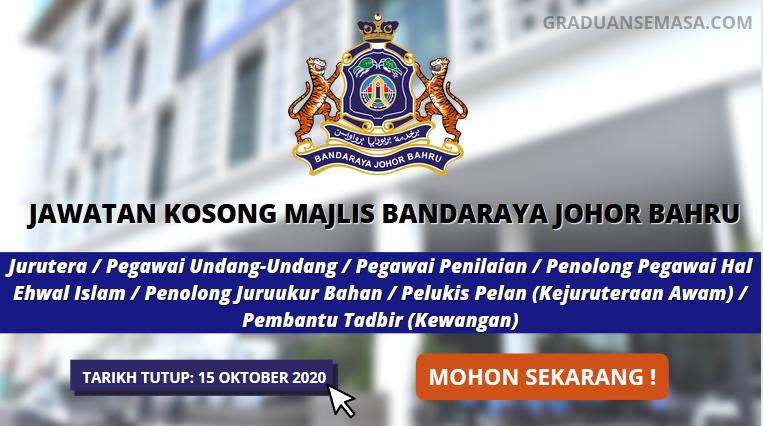 Kelayakan Minima SPM Layak Memohon Jawatan Di Majlis Bandaraya Johor Bharu | Mohon Sebelum 15 Oktober 2020