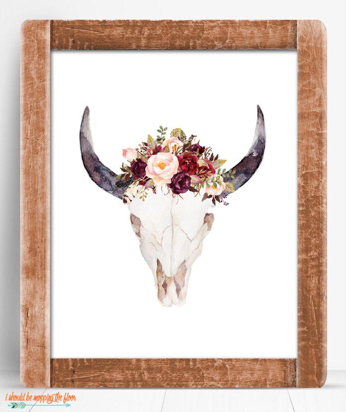 Boho Floral Printable