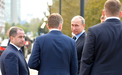 Vladimir Putin in Perm on the Kama River.