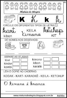 Livro famílias silábicas letra K