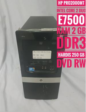 Jual Cpu Hp Pro2000 Tower Ddr3 Core 2 Duo Tinggal Pakai