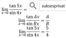 limit tan per sin