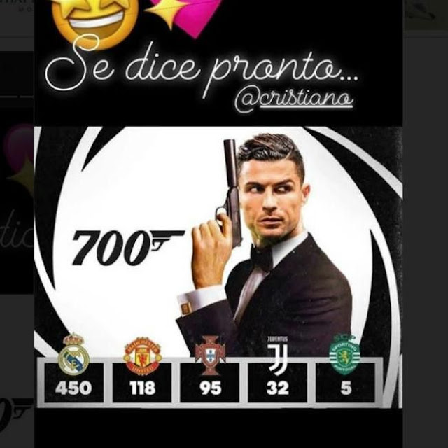 Georgina Rodríguez celebra los 700 goles de Cristiano convirtiéndole en su James Bond