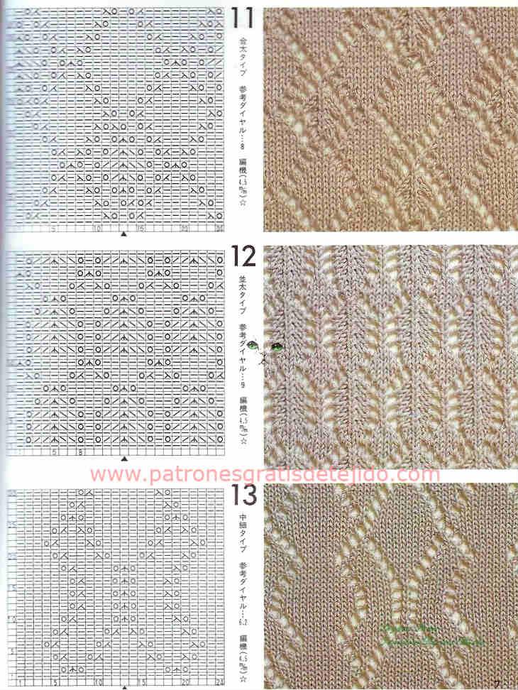 40 patrones de puntadas dos agujas / Descarga gratis   Crochet y Dos ...