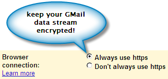 Gmail https setting