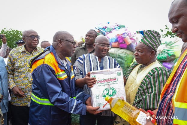 Government Donates Relief Items To Flood Victims In The North