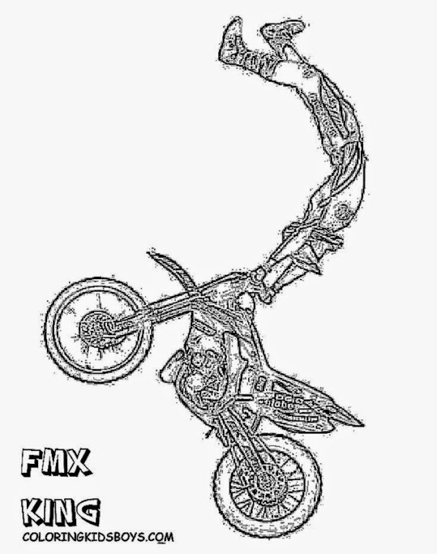 DIRT BIKE COLORING PAGES  Coloring Pages Printable