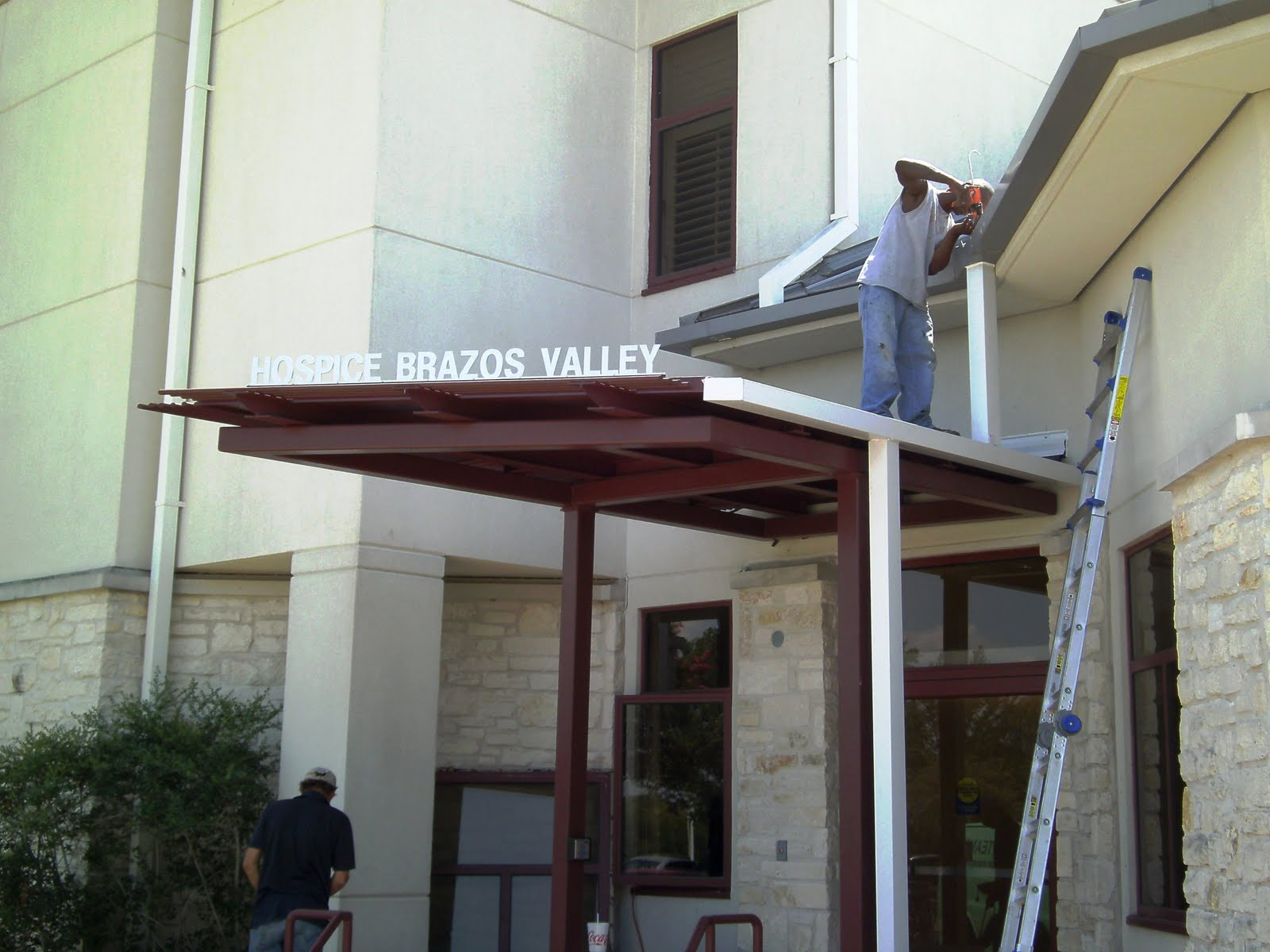 Fully Adhered Epdm And Gutters Hospice Brazos Valley