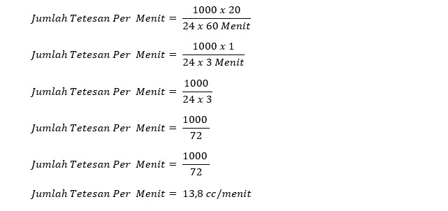 contoh menghitung tetesan infus