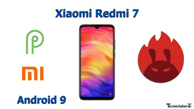 xiaomi redmi 7 antutu benchmark android 9