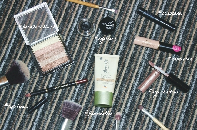 makeup products to achive fresh and bronzy look