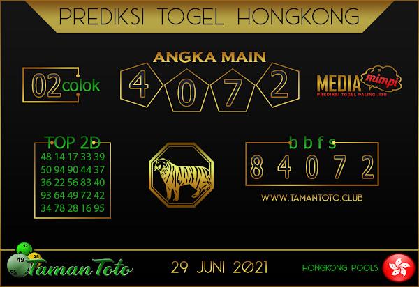 Prediksi Togel HONGKONG TAMAN TOTO 29 JUNI 2021