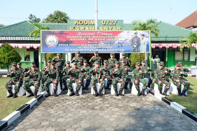 Kodim Karanganyar – Danrem 074/Warastratama: Babinsa dan Danramil Merupakan Garda Terdepan Dalam Mengatasi Perkembangan Situasi Wilayah