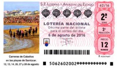 loteria sabado 6 agosto 2016