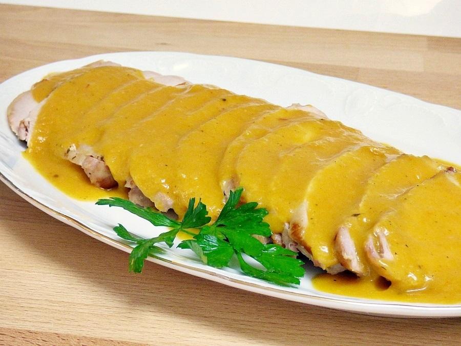 Lomo de cerdo al horno con salsa mis cosillas de cocina - Salsa para verduras al horno ...
