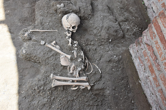 Child's skeleton uncovered in Pompeii