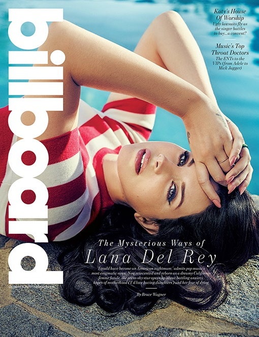 Lana Del Rey smoulders at the poolside for Billboard October 2015