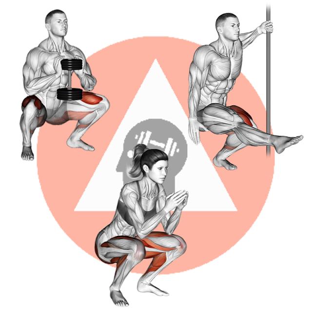 exercice de musculation et fitness poids de corps sans matériel pour cuisses et fessiers