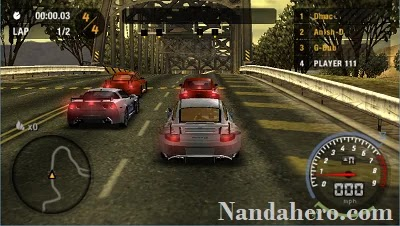 need for speed most wanted ppsspp android ukuran kecil
