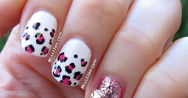 Missjjan S Beauty Blog Pink Leopard Nails Valentine S Day Nails Cute Amp Easy Tutorial