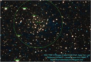 Cumulo abierto y nebulosa NGC 7380 con etiquetas