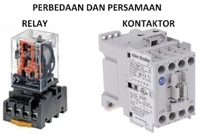 perbedaan dan persamaan relay elektromagnetik dengan kontaktor elektromagnetik