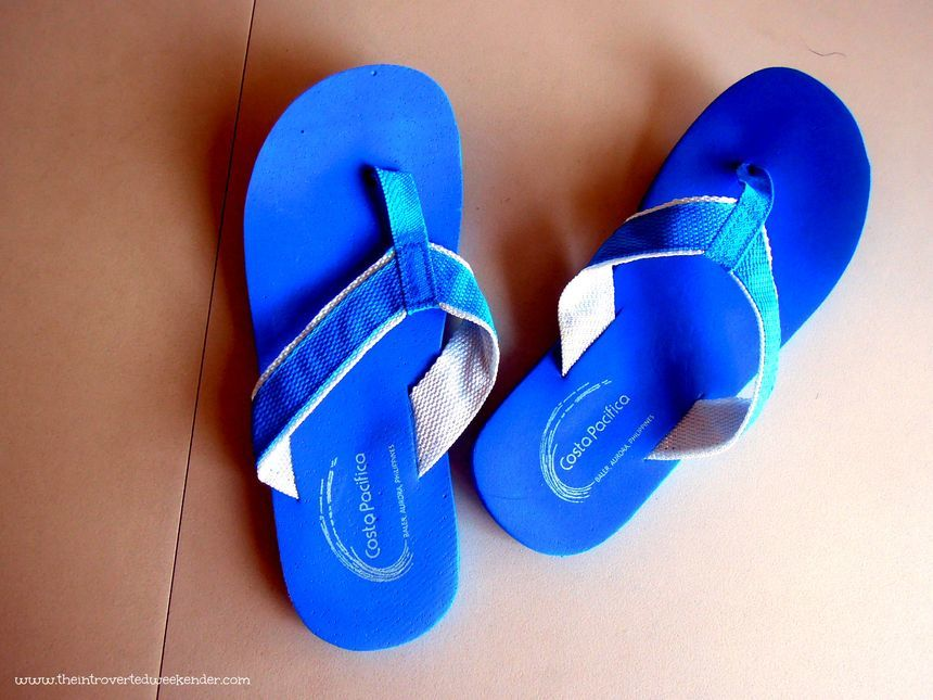 Slippers at Costa Pacifica Baler