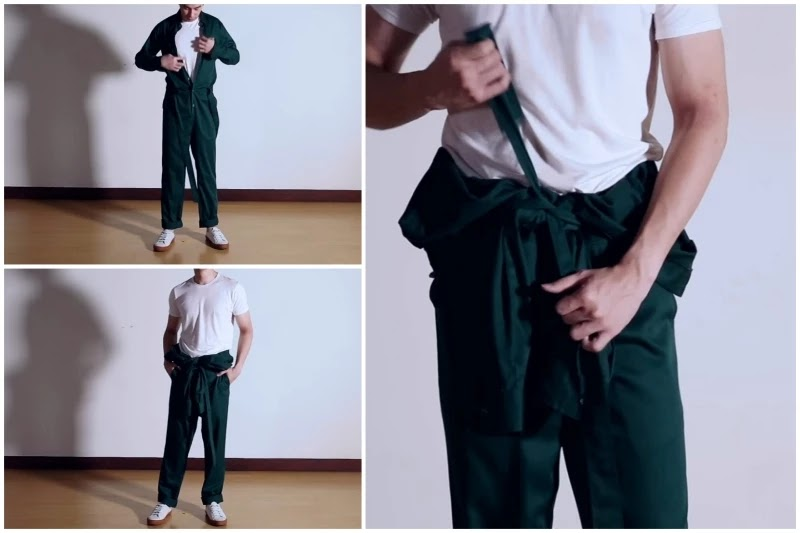 With t-shirts  half sleeves t-shirts Style men's jumpsuit.