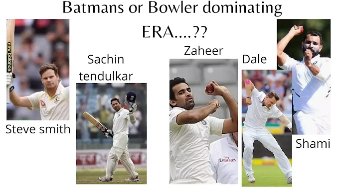 THIS ERA COMPLETELY DOMINATED BY BOWLERS ONLY ? WHAT DO YOU THINK ?