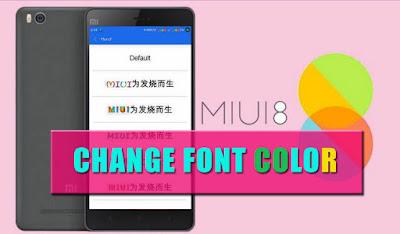 Tutorial Font Color Cara Merubah Huruf Menjadi Berwarna di Xiaomi Tanpa Root