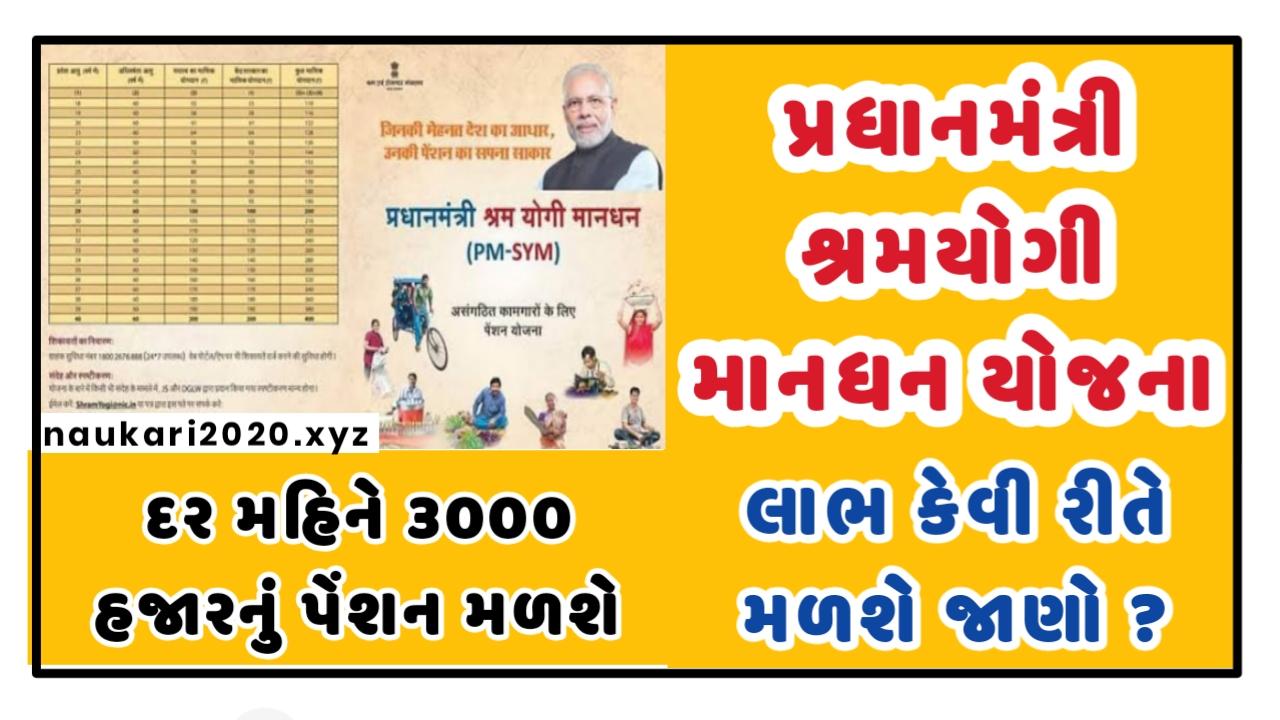 Pradhan Mantri Shram Yogi Maan-Dhan (PMSYM) A Pension Scheme For Unorganised Workers