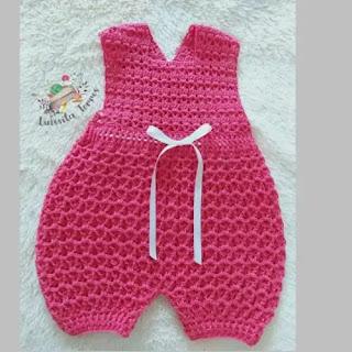 Overol de bebé a Crochet