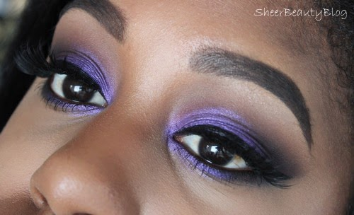 purple foiled eye shadow from makeup geek