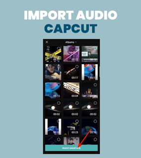 Import audio di capcut