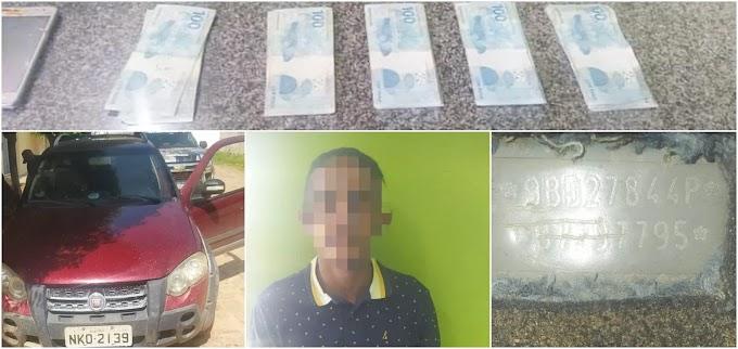 POLÍCIA - Vereador é conduzido pela PM acusado de dirigir carro roubado no PI