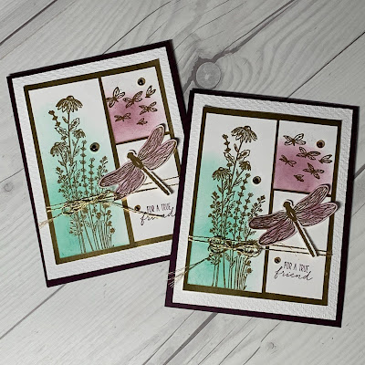 Dragonfly greeting card using Stampin' Up! Dragonfly Garden Stamp Set
