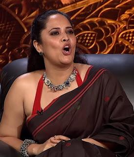 anasuya bharadwaj hot photoshoot - Jabardasth   5th August 2021 black cotton saree photot shoot , hot , sexy, open mouth, hot expression, cute