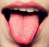 Foto de la lengua humana, sentido del gusto