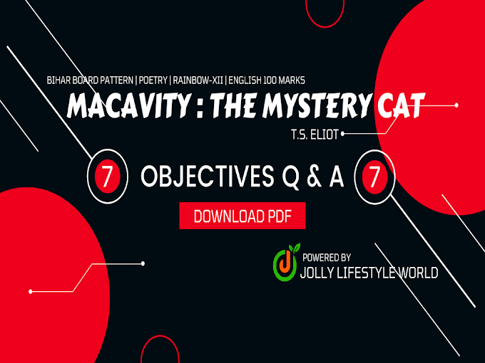 Macavity : The Mystery Cat Objective Question Answer Pdf