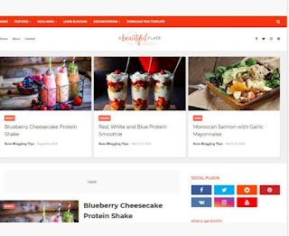 Plate food blogger template