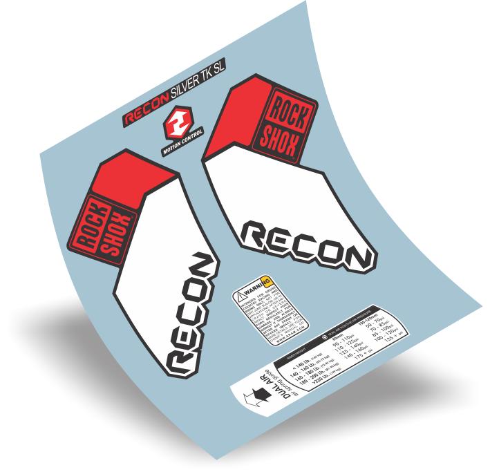 Stickers Design Adesivo Suspensão Rock Shox Recon Silver