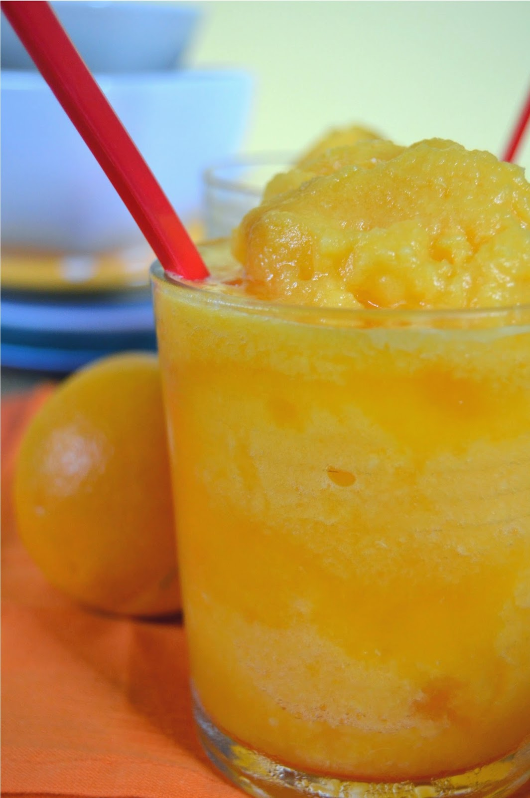 Fresh Orange Slushie