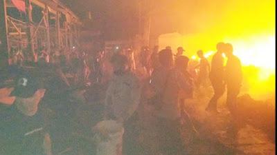 Kebakaran di Kompleks Pasar Tompasobaru, 13 Rumah dan Kios Ludes