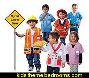 My 1st Career Gear Assortment Suit  playrooms alphabet numbers decorating ideas - educational fun learning letters & numbers decor - abc 123 theme bedroom ideas - Alphabet room decor - Numbers room decor - Creative playrooms educational children bedrooms - Alphabet Nursery - Alphabet Wall Letters - primary color bedroom ideas - boys costumes - girls costumes pretend play - fun playroom furniture