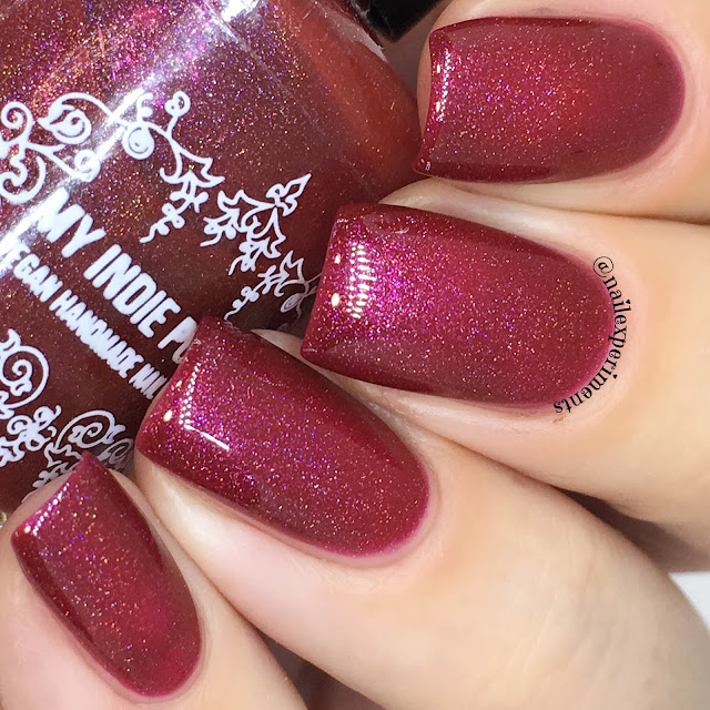 my indie polish I'll eat you up I love you so swatch