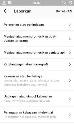 Cara melaporkan spam dan akun palsu ke pihak instagram