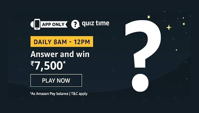 Amazon Quiz Answers for 24 August 2020